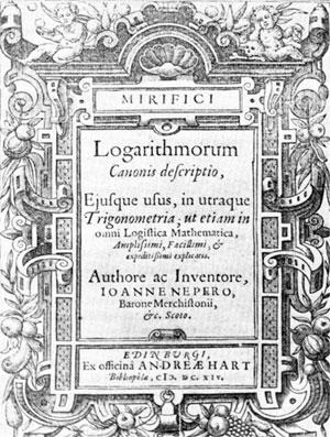 Logarithmorum Canonis Descriptio