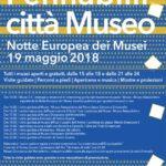 Notte europea dei musei: 19 maggio 2018 ore 21