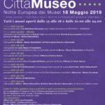 Notte europea dei musei - 18 maggio 2019 ore 21